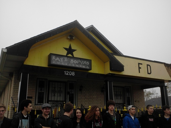 Our group at Fats Domino's publishing house in New Orleans